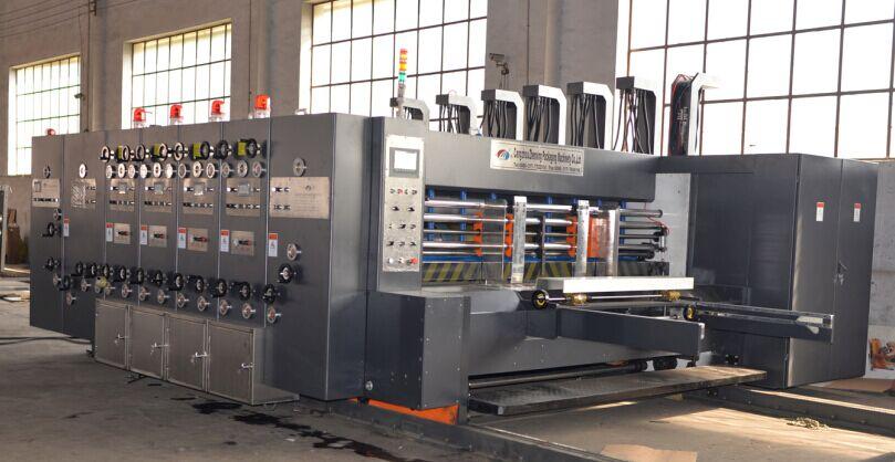 SYKM4212-2200型高速四色水墨印刷開槽模切一體機
