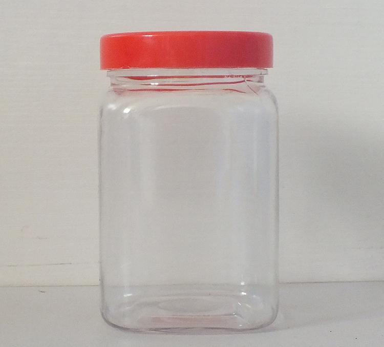 300ML平面四方瓶-PET食品包装瓶-湖南宝升塑业科技有限公司