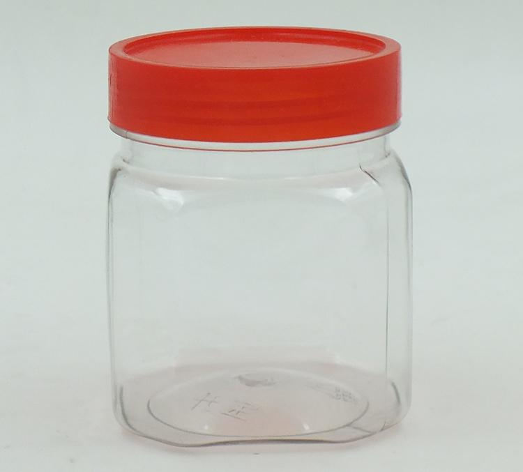 380ML四方瓶-PET食品包装瓶-湖南宝升塑业科技有限公司