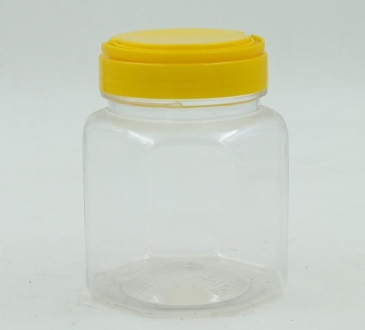500ML六角蜂蜜瓶-PET食品包装瓶-湖南宝升塑业科技有限公司