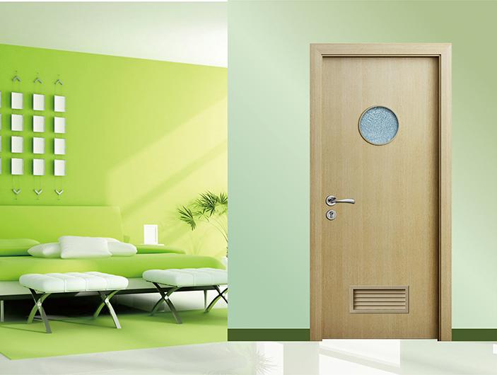 卫浴门 黄橡木