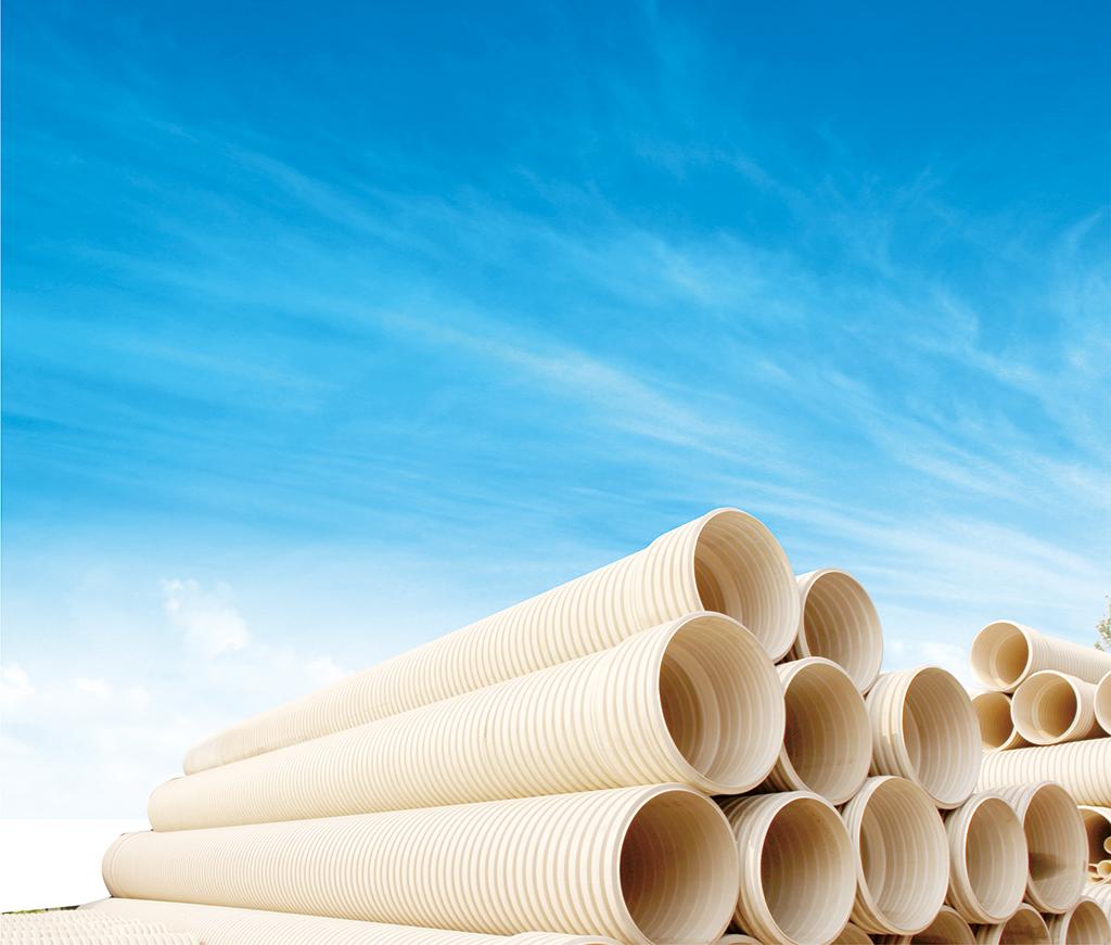 埋地排水用硬聚氯必赢(PVC-U)双壁必赢