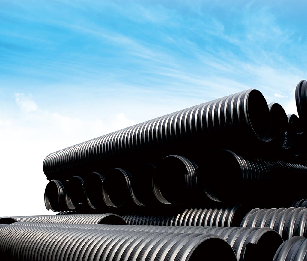 埋地排水用鋼帶加強聚乙烯(HDPE)螺旋波紋管