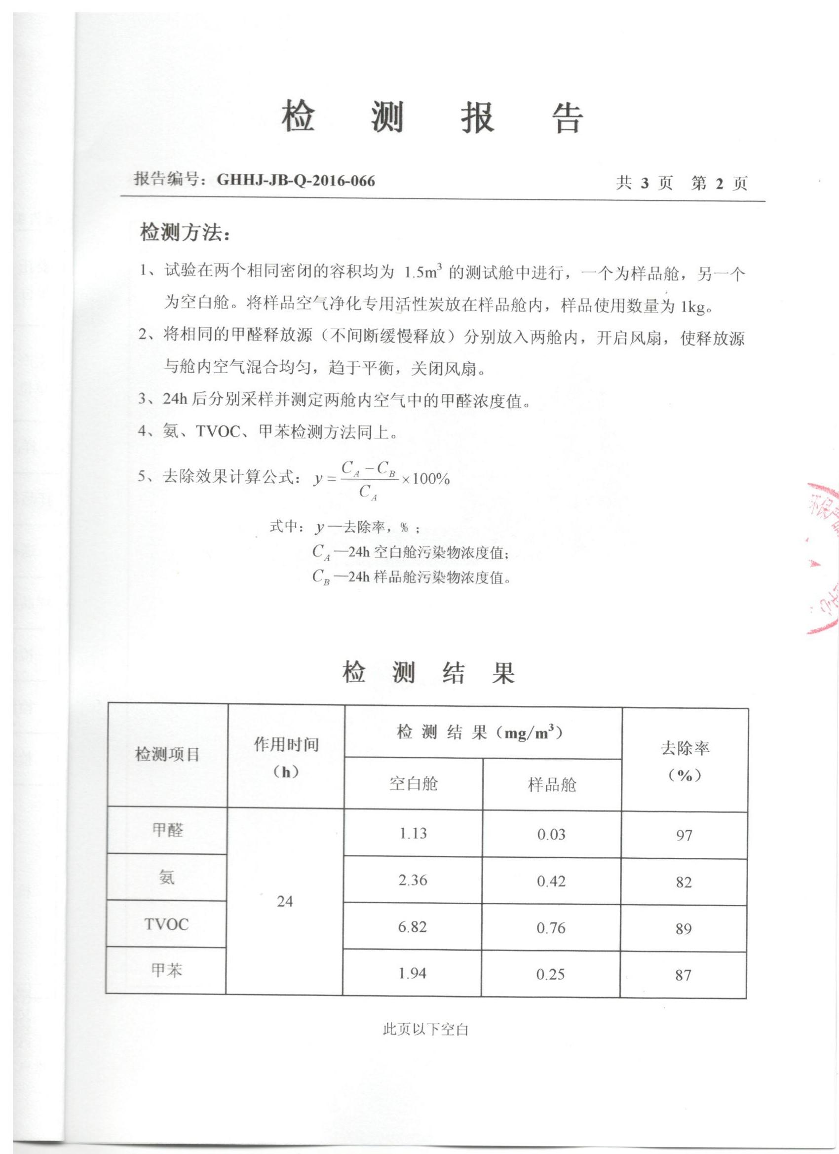 国家室内车内环境及环保产品质量监督检验中心 检测报告 03