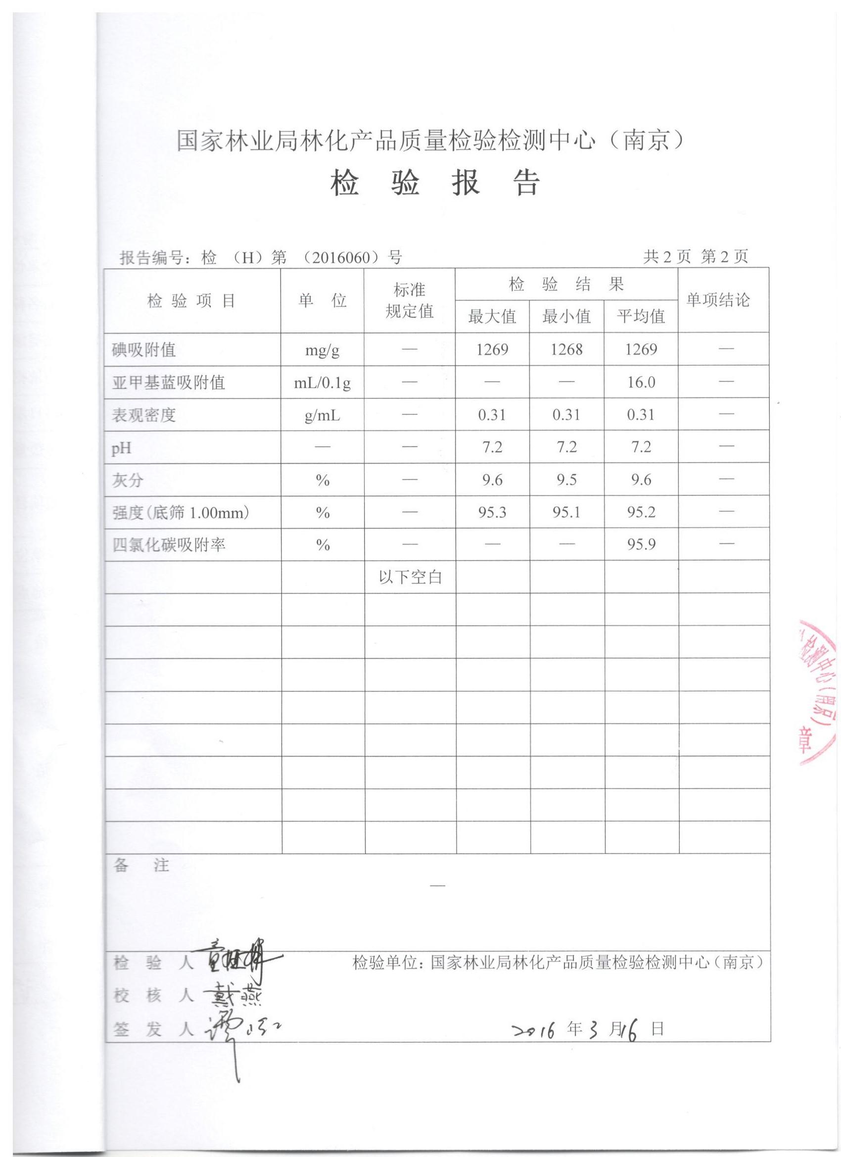 国家林业局林化产品质量检验检测中心(南京)检测报告 03