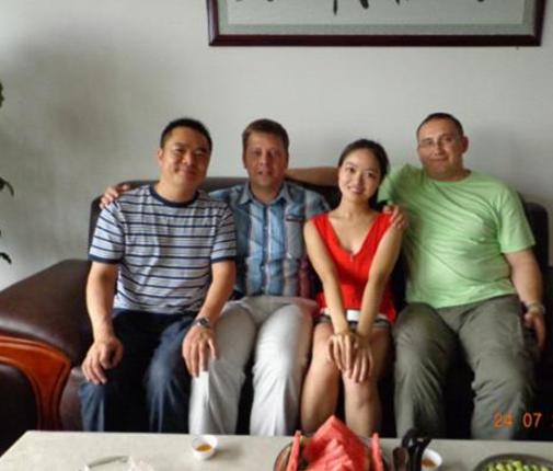 俄罗斯客户来访湖南青冲锰业有限公司