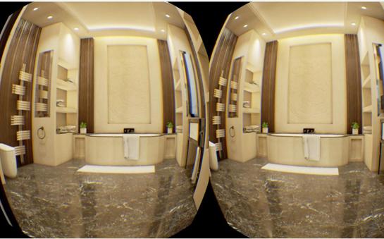 航天康达集成墙面  VR未来家装新体验!