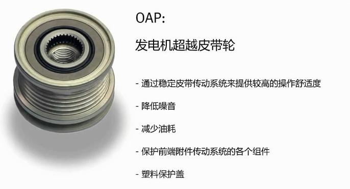 什么是汽车发电机单向皮带轮,OAP的作用有哪些,如何辨别真假单向皮带轮,单向皮带轮的原理及安装范围