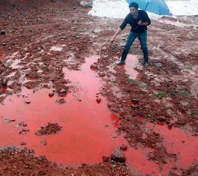 中国水污染有多严重,来看看这一张张可怕的照片