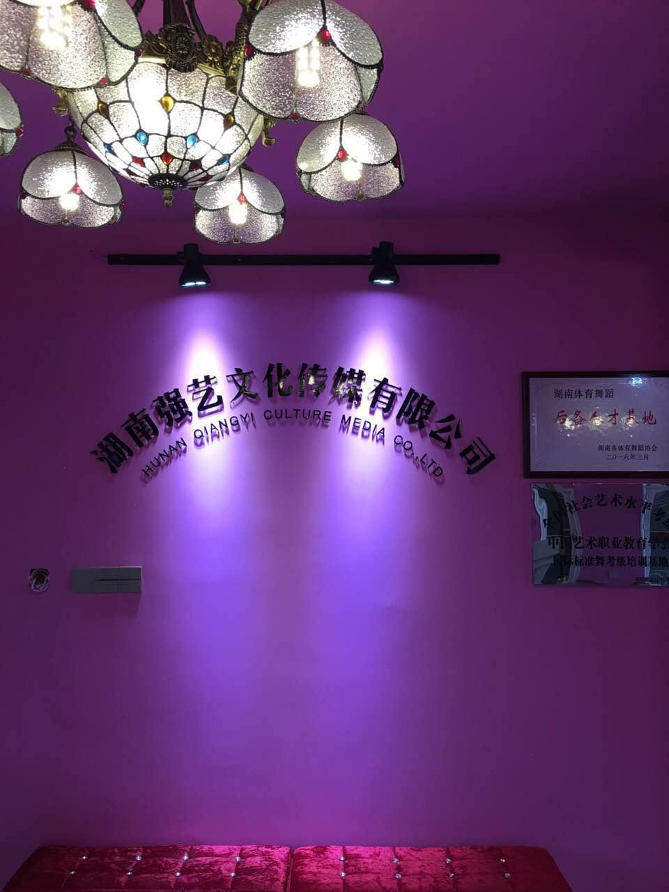 强艺文化传媒——室内水晶字背景墙制作