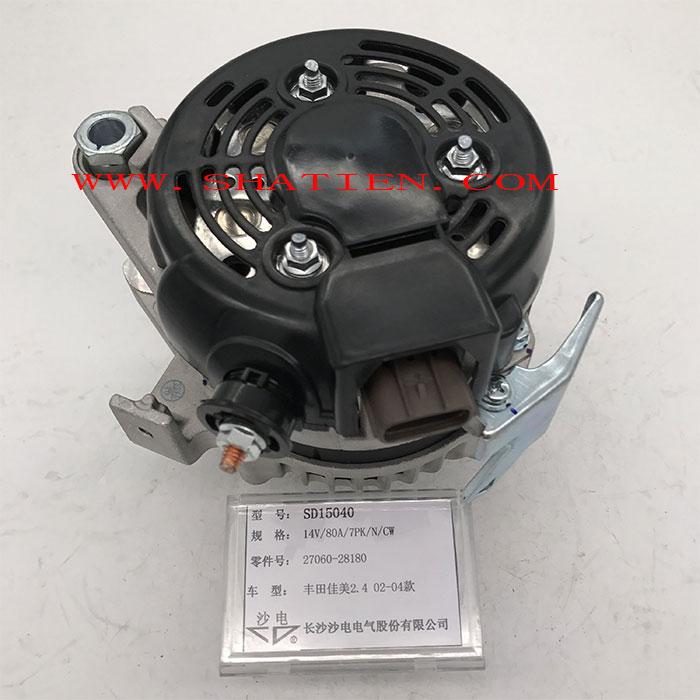 02-04款豐田佳美2.4發電機27060-28180,SD15040