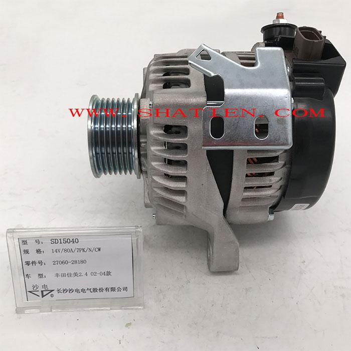 02-04款丰田佳美2.4发电机27060-28180,SD15040