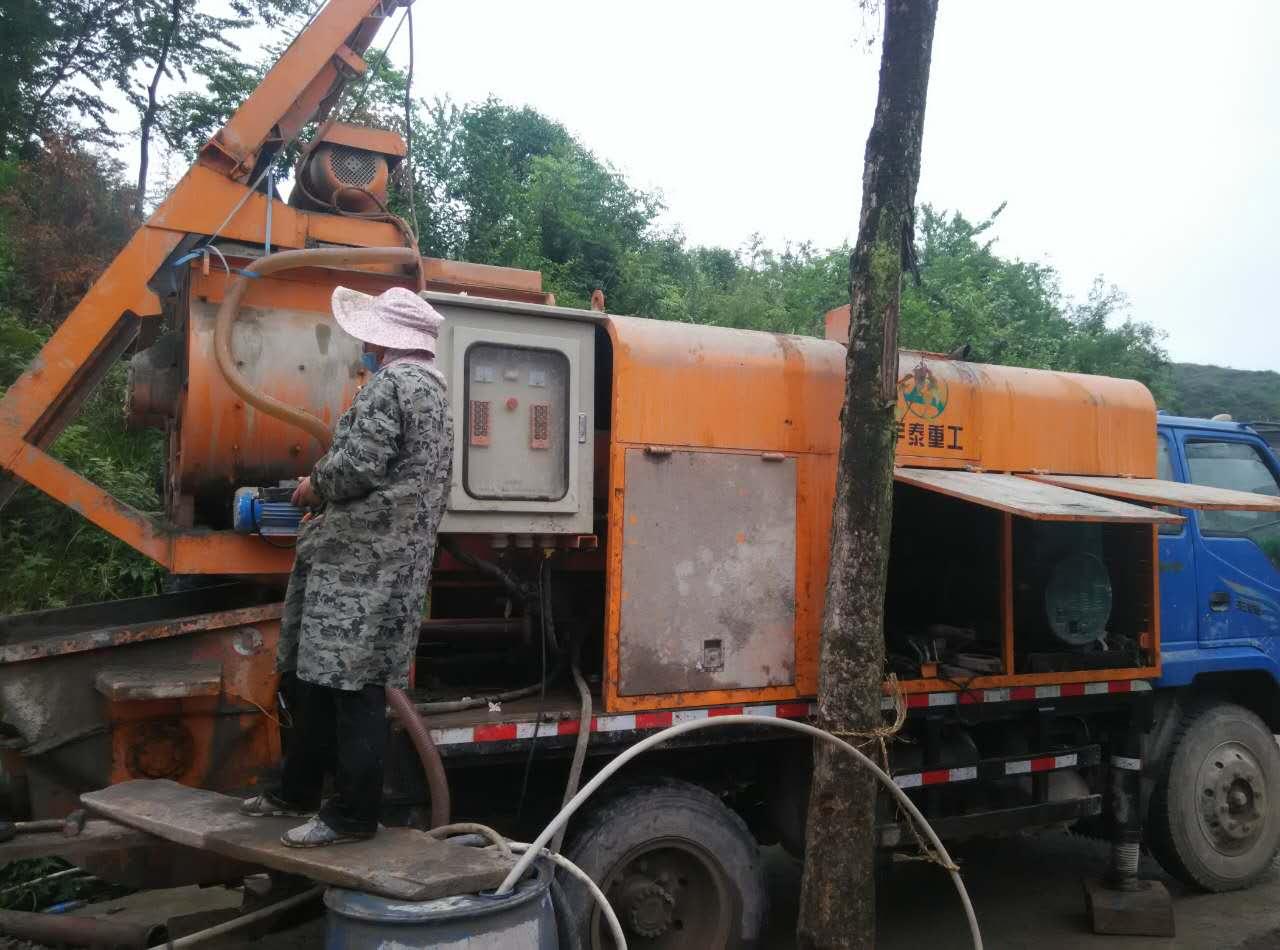 刘老板使用宇泰重工混凝土车载泵,收益非常可观!