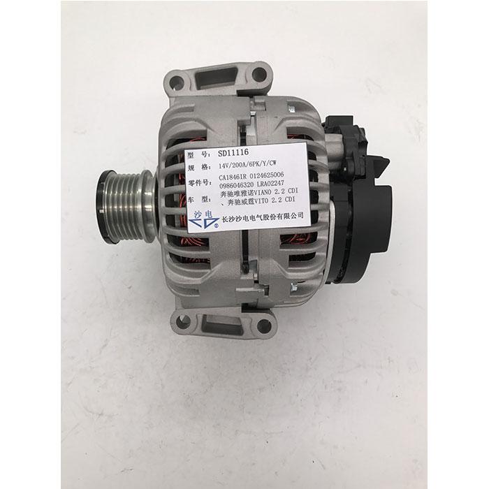 博世发电机CA1846IR,0124625006,SD11116适用于奔驰唯雅诺威霆2.2 CDI