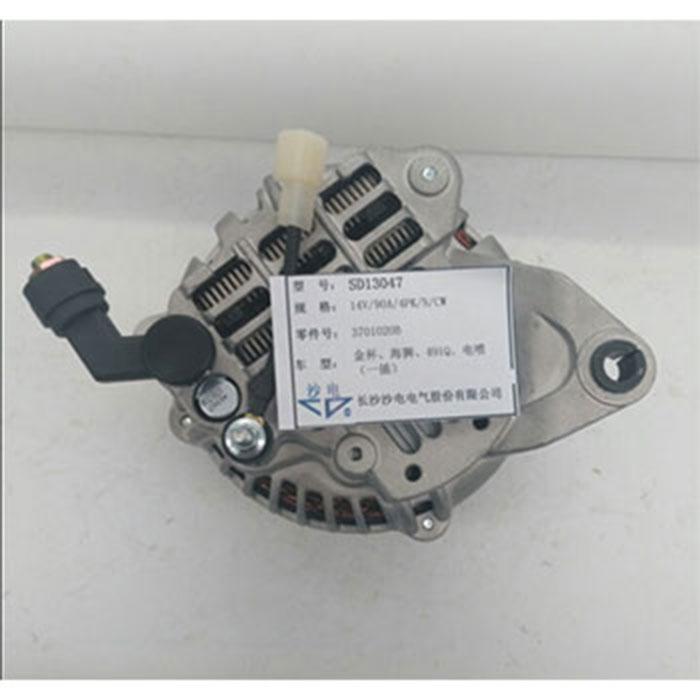 金杯海狮90A带线发电机3701020B,SD13047