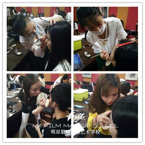 湖南明星化妆学校实习活动