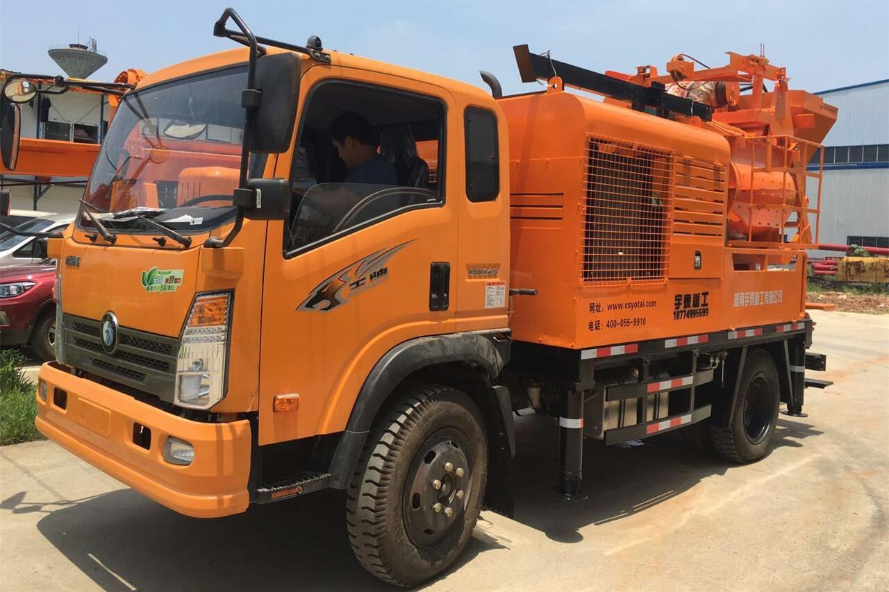 混凝土车载泵,货比三家,还是选湖南宇泰重工!