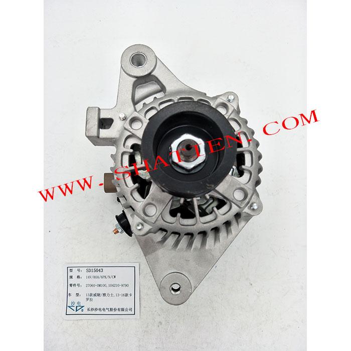 13款威馳雅力士發電機27060-0M100,104210-9790,SD15043