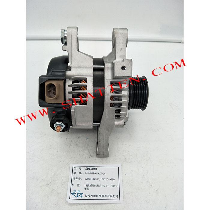 13款威驰雅力士发电机27060-0M100,104210-9790,SD15043