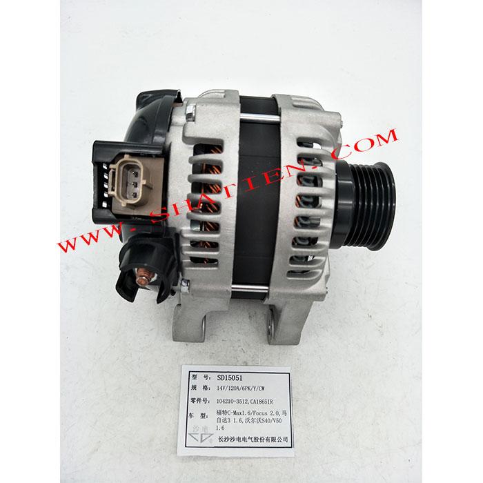 沃尔沃S40 V50 1.6发电机120A,1042103512,30667067,SD15051