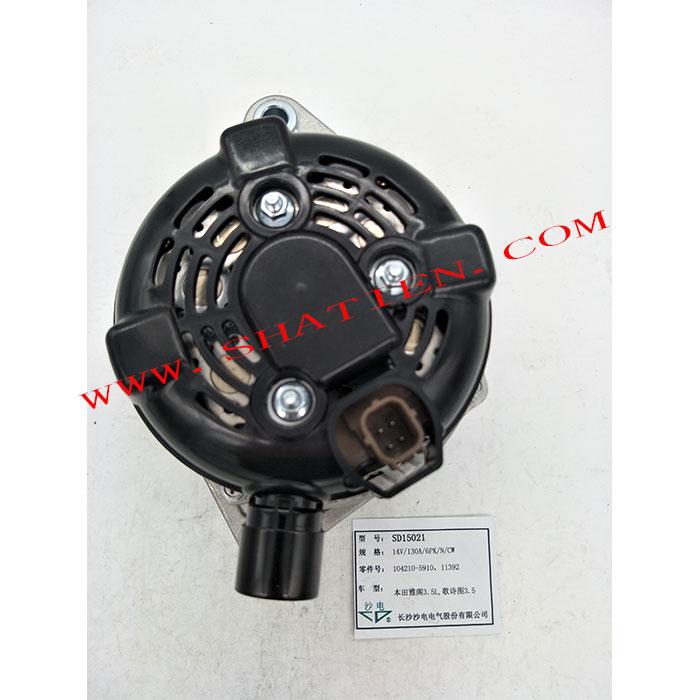 电装发电机104210-5910,SD15021适用于广田雅阁3.5L 歌诗图3.5