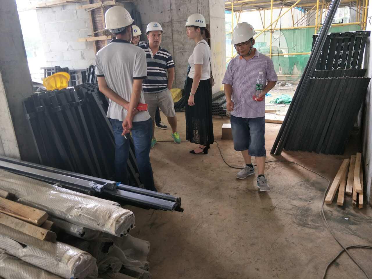 宁华置业星湖湾项目莅临我司在建工程考察圆满成功