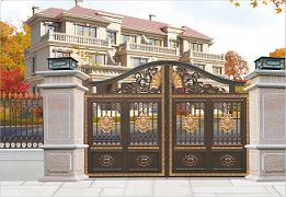 湖南邵阳铝艺大门 铝合金庭院门定做设计厂(图)