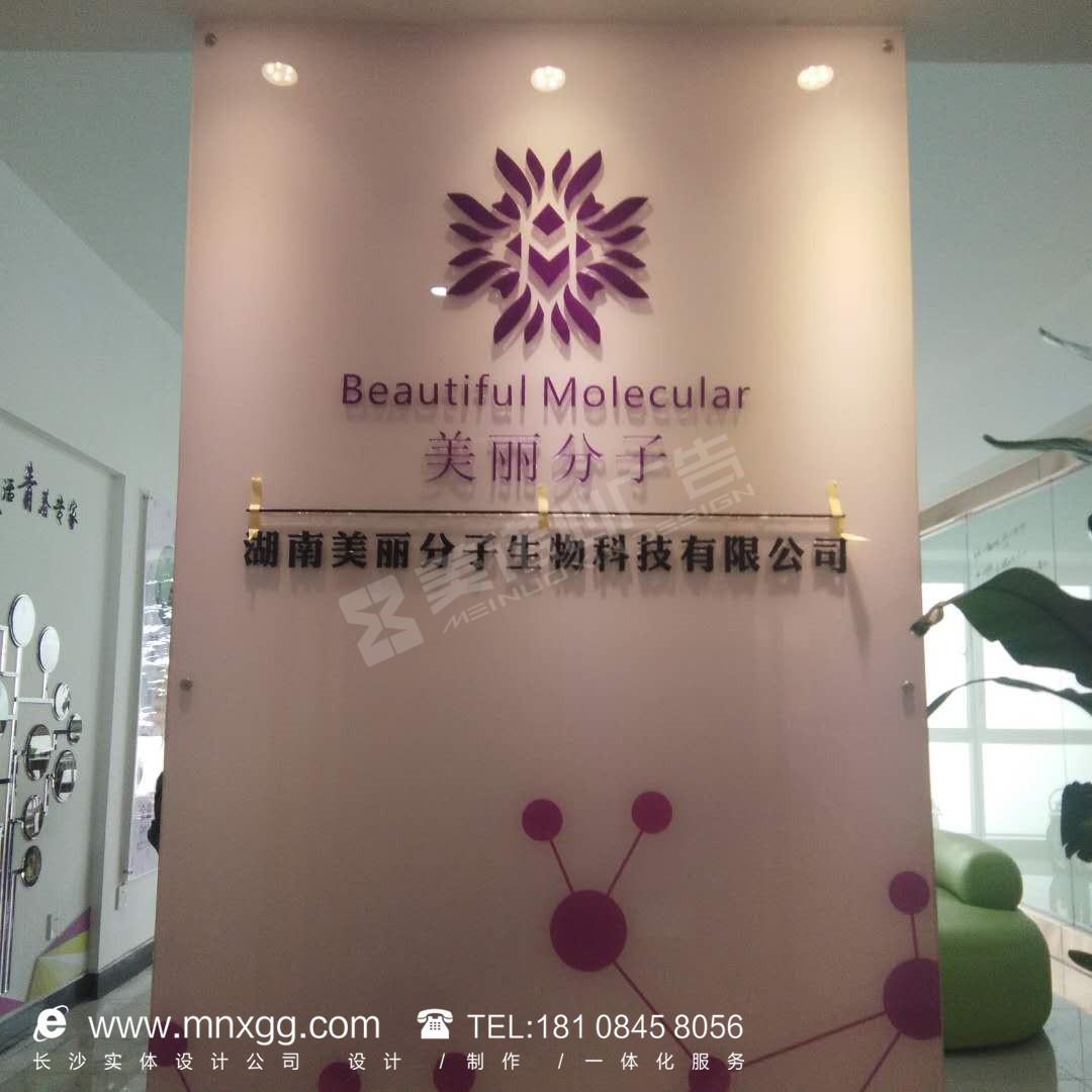 美丽分子生物科技——公司文化墙制作