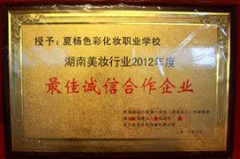 荣获湖南美妆行业最佳诚信合作企业