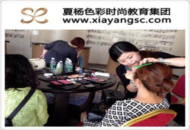 夏杨色彩牵手中国好声音,为湖南区决赛选手造型试妆