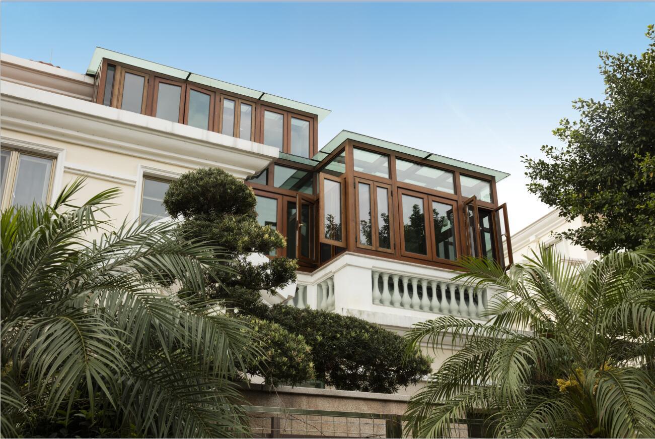 别墅铝合金阳光房设计多少钱一平方 宝东铁艺