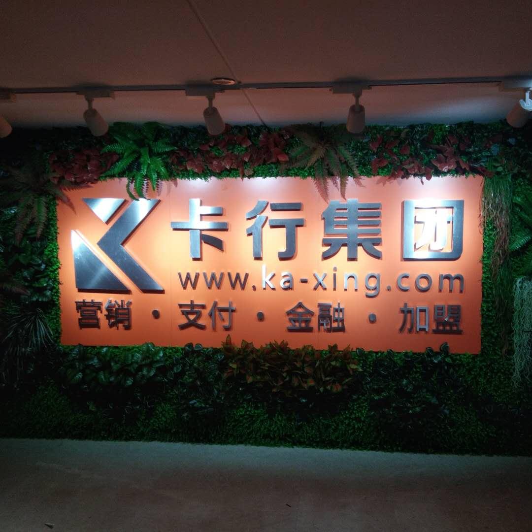 卡行集团——仿真植物背景墙制作