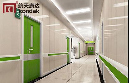 医院门和医用墙板的颜色搭配