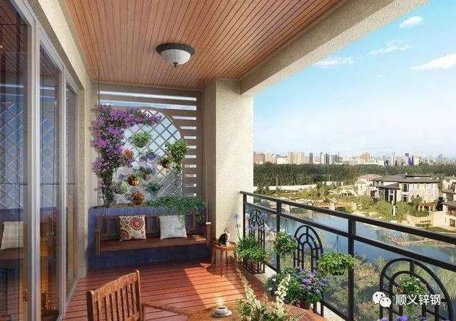 阳台装修,锌钢阳台护栏居然可以这样美