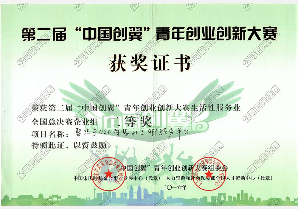 中国创翼大赛二等奖