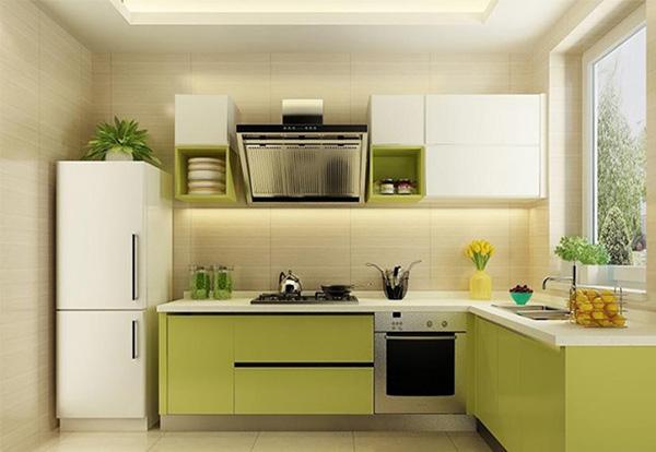 清新的绿色橱柜