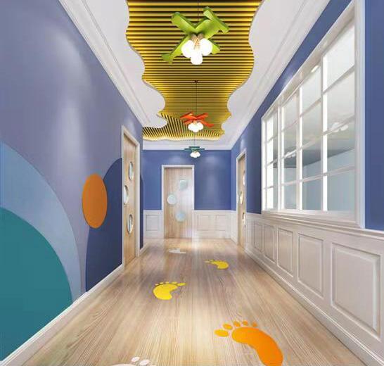 幼儿园走廊,树脂门,幼儿园门