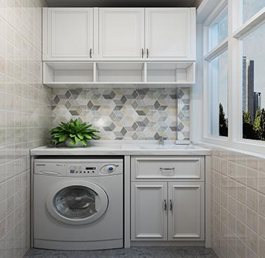 廠家定制 陽台櫃組合 洗衣機櫃 儲物櫃 繁復古代YSG005