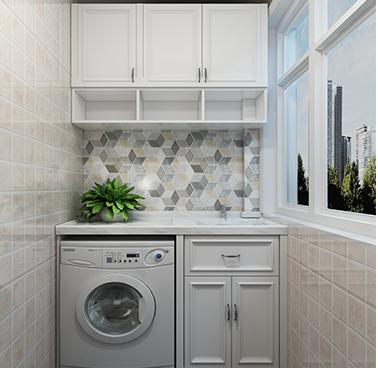厂家定制 阳台柜组合 洗衣机柜 储物柜 简约现代YSG005