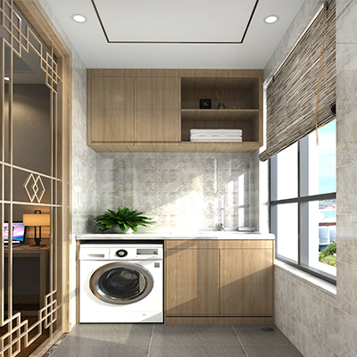 阳台柜洗衣机柜 简约现代收纳柜 YSG010