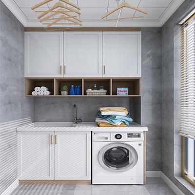 厂家批发阳台柜  现代简约洗衣机柜YSG011