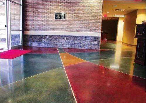 混凝土染色固化地坪施工效果验收需要做好哪几个方面?