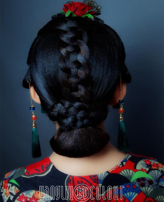 杨柳学校发型作品1