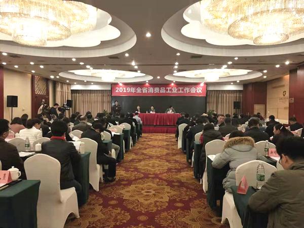 省工信厅召开全省消费品工业工作会议,省医械协会作典型发言