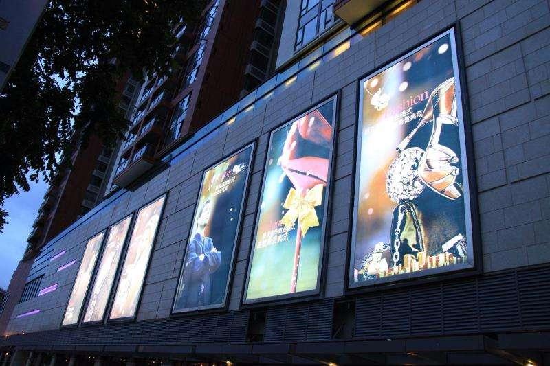 浅谈外墙广告灯箱蹬鸾及安装方法