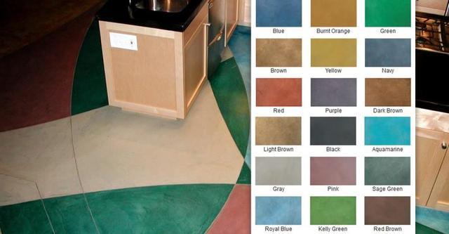 混凝土染色剂地坪带来五彩缤纷地坪!