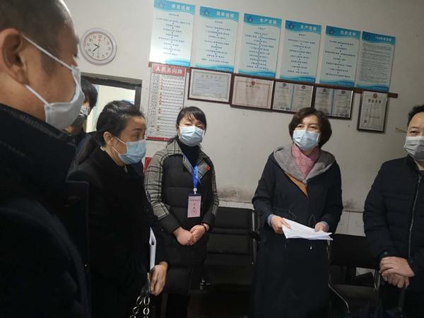 周艳希区长一行莅临青冲锰业公司视察疫情防控工作