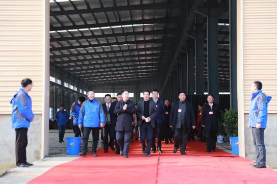湘阴县领导及湘阴县人大代表、政协委员一行莅临必赢app新材料视察指导