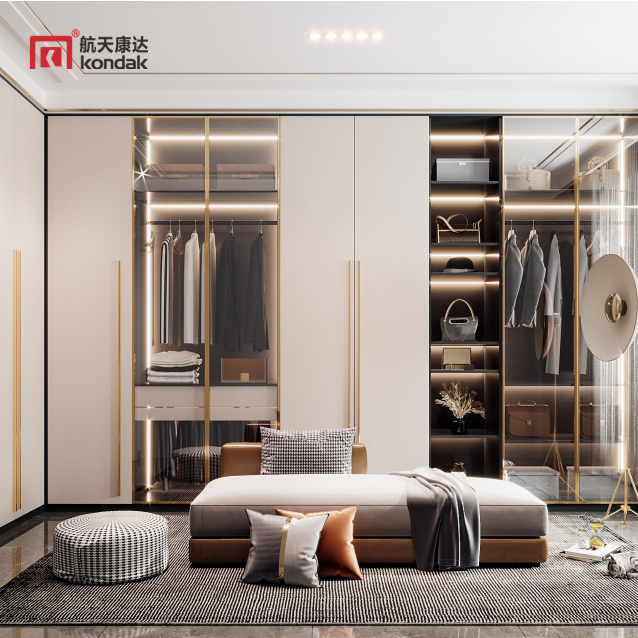 轻奢极简衣柜  现代简约木质衣柜 彰显成功人士品质 YG006